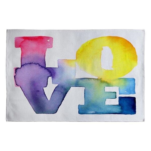 CMYKaren Love 4 Novelty Rug by Deny Designs