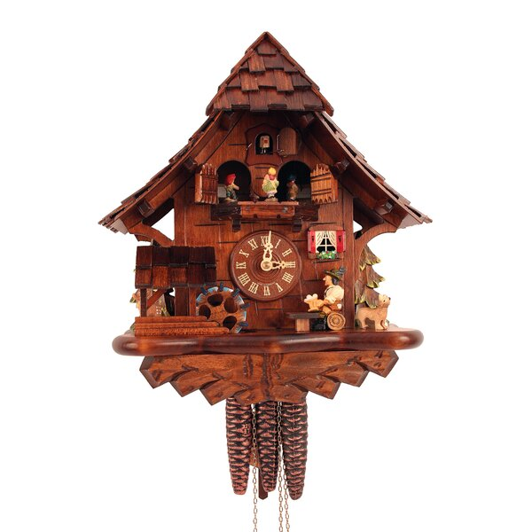 Cuckoo Clock with Beer Drinker and Music by Black Forest