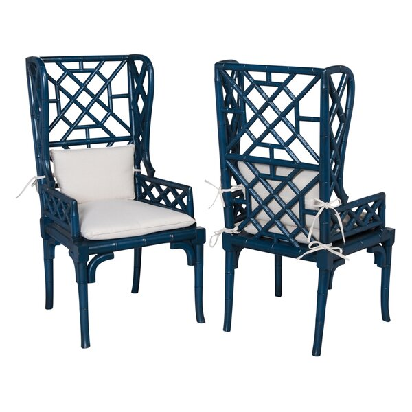 Kennedy Wing Back Arm Chair (Set of 2) by Bay Isle Home