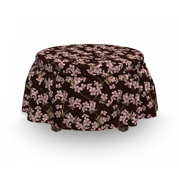Soft Cherry Bloom Ottoman Slipcover (Set Of 2) By East Urban Home