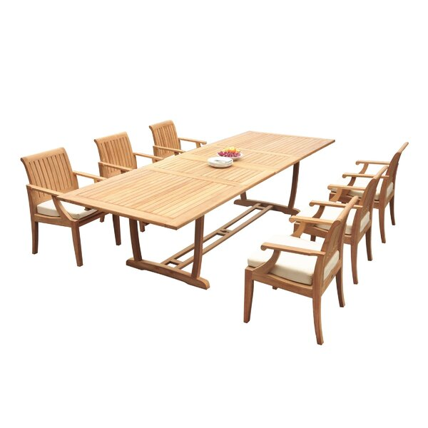 Gambier 7 Piece Teak Dining Set by Rosecliff Heights