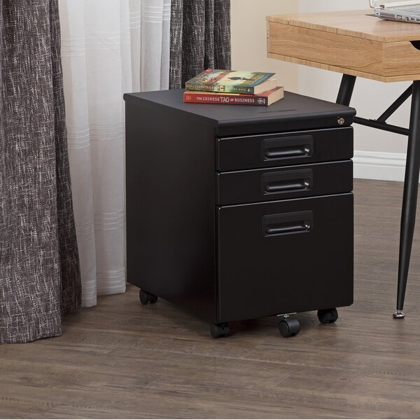 Elora 3-Drawer Office Storage Vertical Filing Cabinet by Symple Stuff