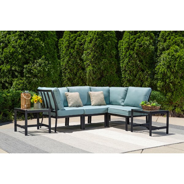 Avalon 6 Piece Rattan Modular Sectional Set with Cushions by Ivy Bronx