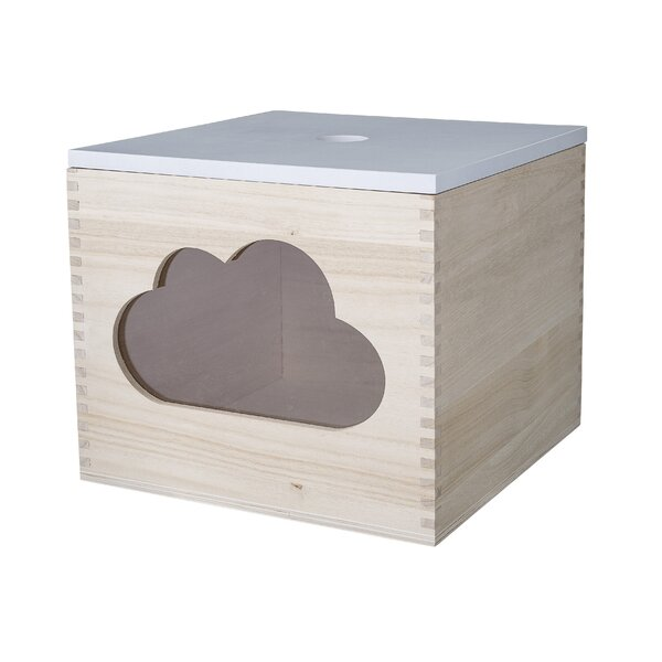 Amy Square Wood Storage Decorative Box by Harriet Bee