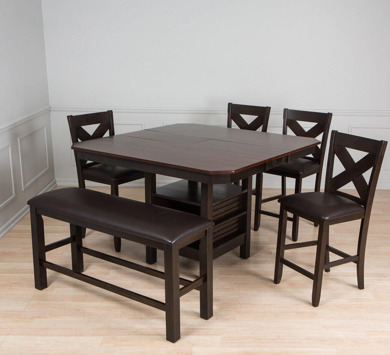 AW Furniture 6 Piece Pub Table Set | Wayfair