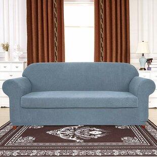 Plaid Stretch Box Cushion Sofa Slipcover