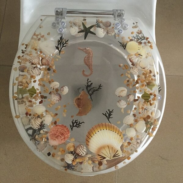 Sea Treasure Elongated Toilet Seat by Daniels Bath