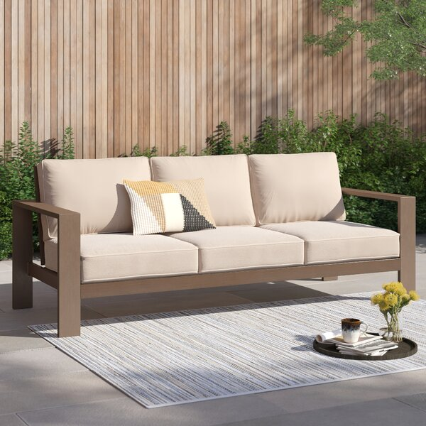 Daly Patio Sofa with Cushions by Foundstone