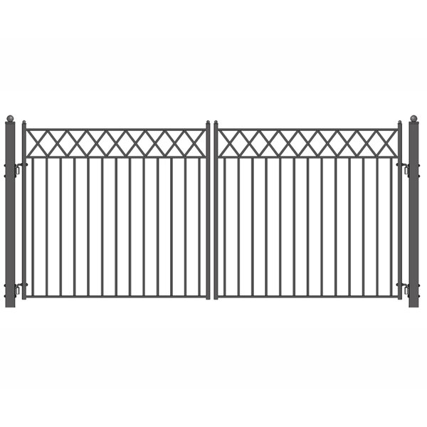 Stockholm Steel Dual Swing Driveway Gate by ALEKO