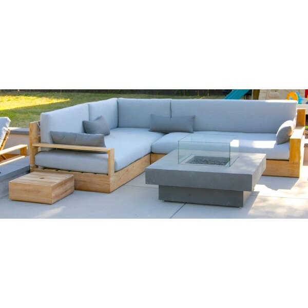 Bale 3 Piece Teak Sunbrella Sectional Set with Cushions by IKsunTeak IKsunTeak