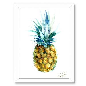 Pineapple by Suren Nersisyan Framed Painting Print by Bay Isle Home