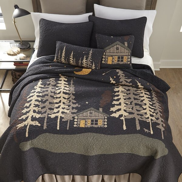 Galey Moonlit Cabin Cotton Throw by Millwood Pines
