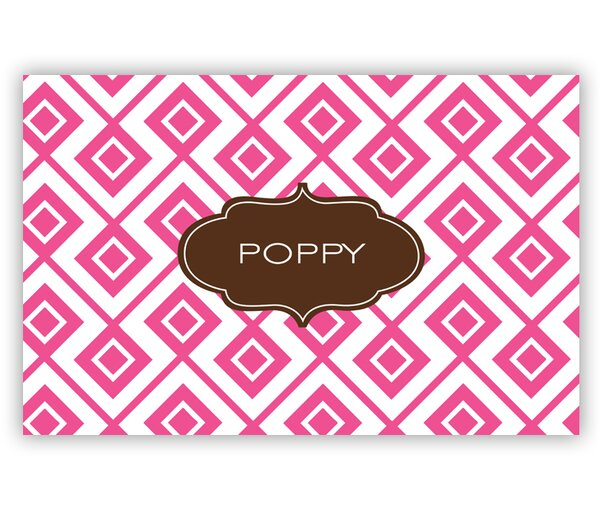 Lucy Block Personalized Laminated Placemat by Dabney Lee