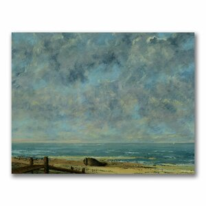 The Sea C.1872 by Gustave Courbet Painting Print on Canvas by Trademark Fine Art