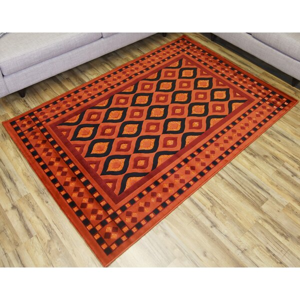 Shonil Orange/Red Area Rug by Beyan Signature