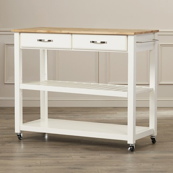 Hedon Kitchen Cart by Three Posts