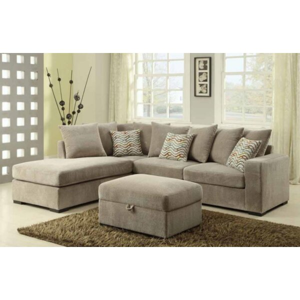 Bueno Reversible Sectional with Ottoman by Red Barrel Studio