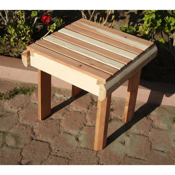 Henry Beach Wooden Side Table by Rosecliff Heights