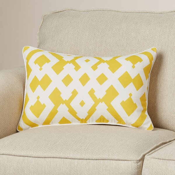 Belford Large Zig Zag Linen Lumbar Pillow by Zipcode Design