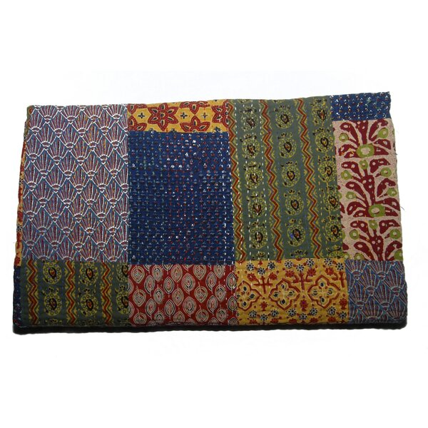 Jaclyn Handmade Block Print Patchwork Cotton Throw by August Grove