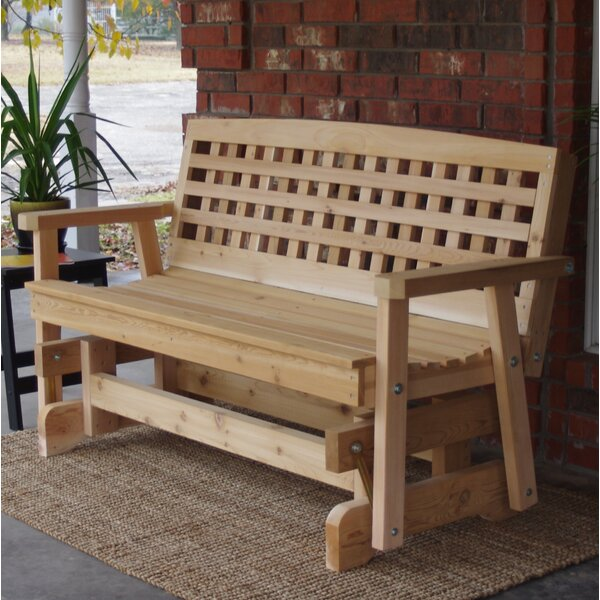 Shannon Cedar Lattice Glider Bench by Millwood Pines