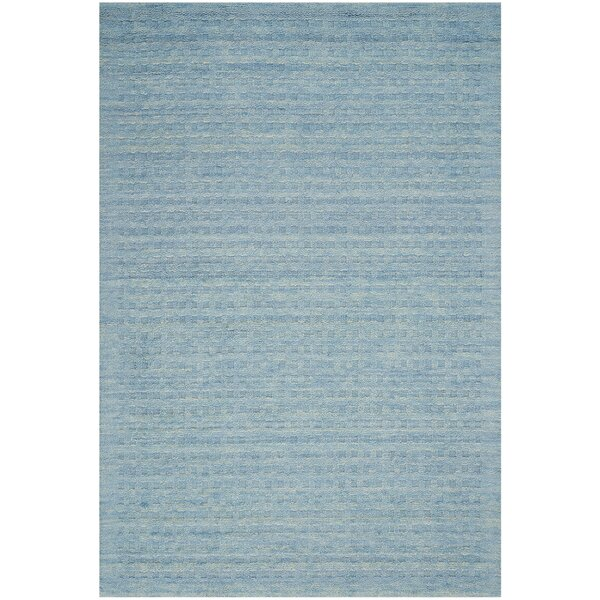 Dove Hand-Woven Wool Sky Blue Area Rug by Highland Dunes