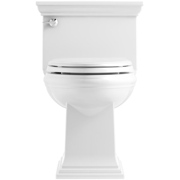 Memoirs Stately Comfort Height Skirted One-Piece Compact Elongated 1.28 gpf Toilet with AquaPiston Flush Technology and Left-Hand Trip Lever by Kohler