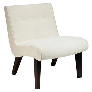 Best Elvie Velvet Slipper Guest Chair by Willa Arlo Interiors