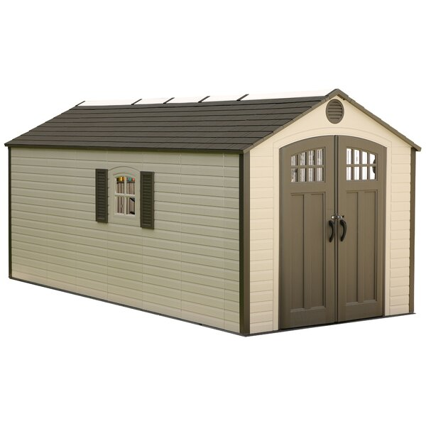 8 ft. W x 17 ft. 6 in. D Plastic Storage Shed by Lifetime