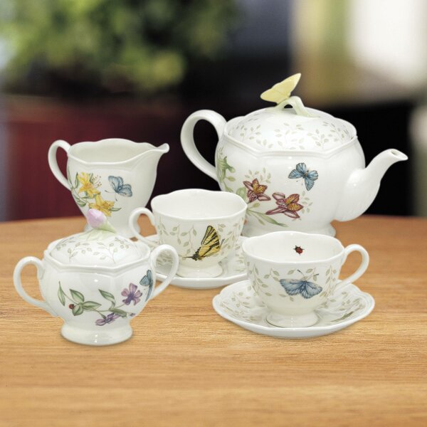 Butterfly Meadow 9 Piece Teapot Set by Lenox