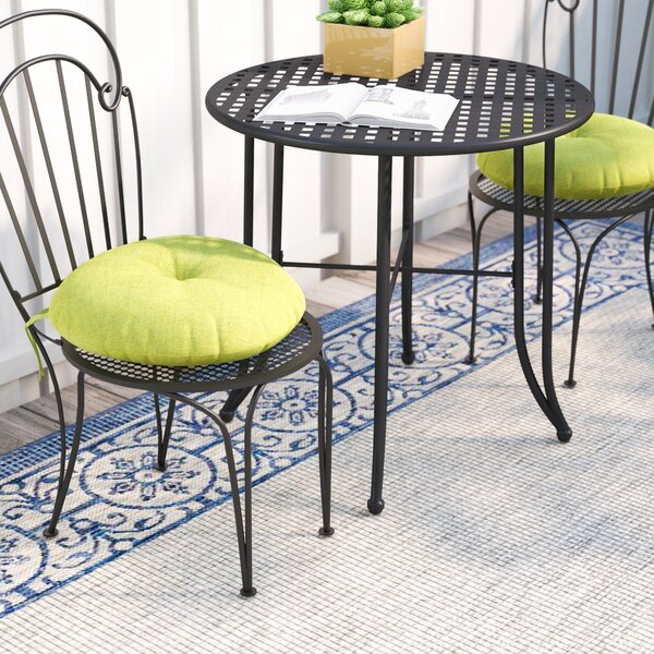 Sarver Bistro Indoor/Outdoor Dining Chair Cushion (Set of 2) by Andover Mills