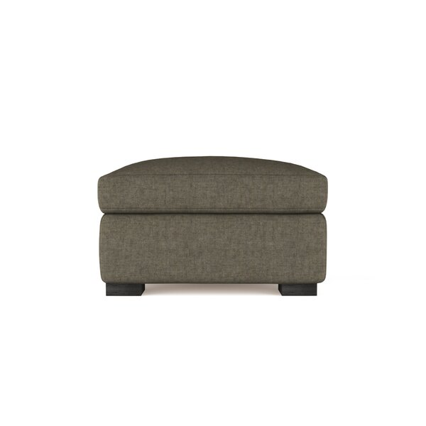 Aughalish Vintage Leather Ottoman by Canora Grey Canora Grey