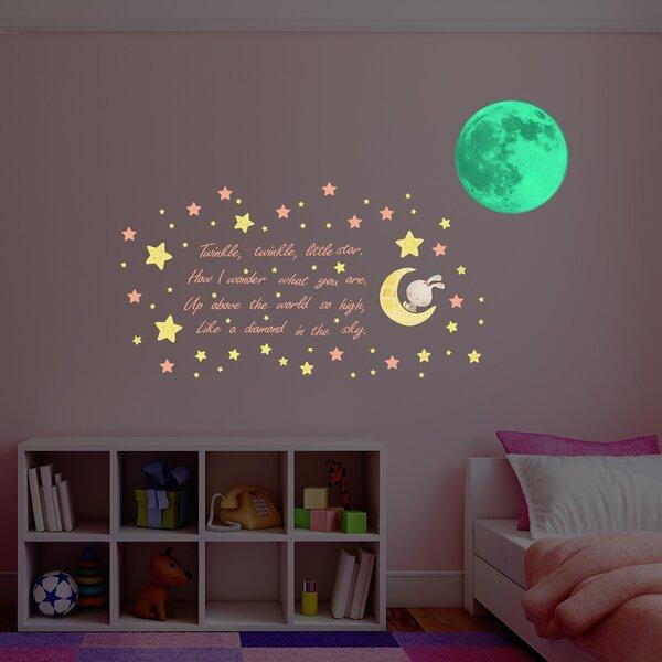 Hillam Glow in Dark Moon Wall Decal by Zoomie Kids