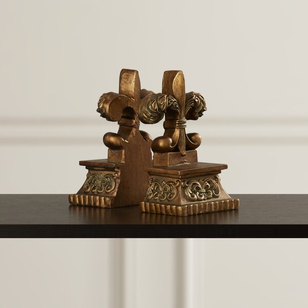 Bronze Bookends (Set of 2) by Astoria Grand
