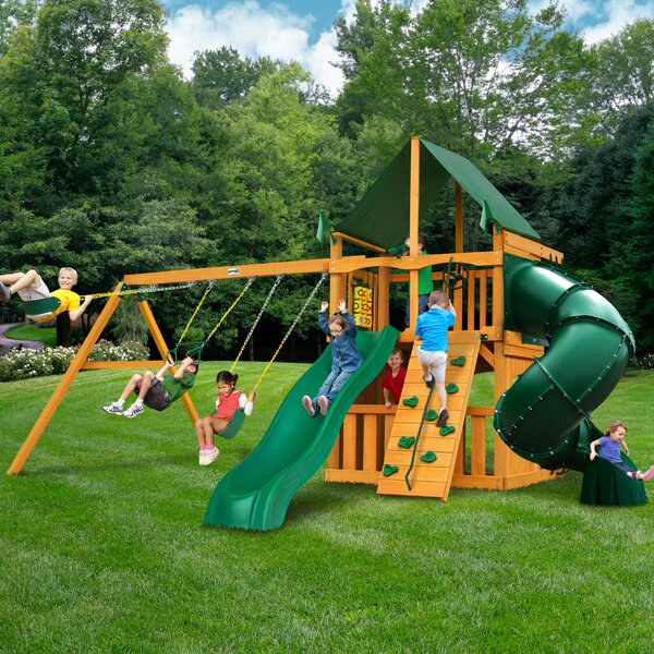 Mountaineer Clubhouse Swing Set by Gorilla Playsets