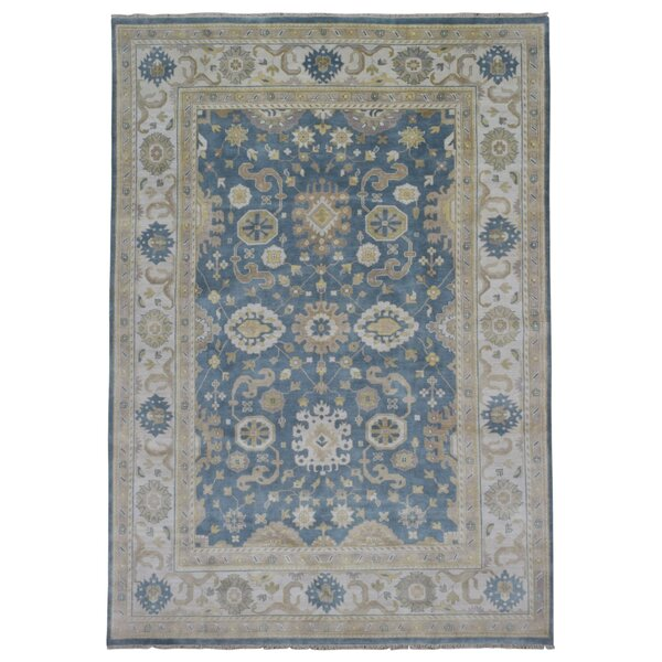 One-of-a-Kind Finadeni Oriental Hand Woven Blue Area Rug by Isabelline