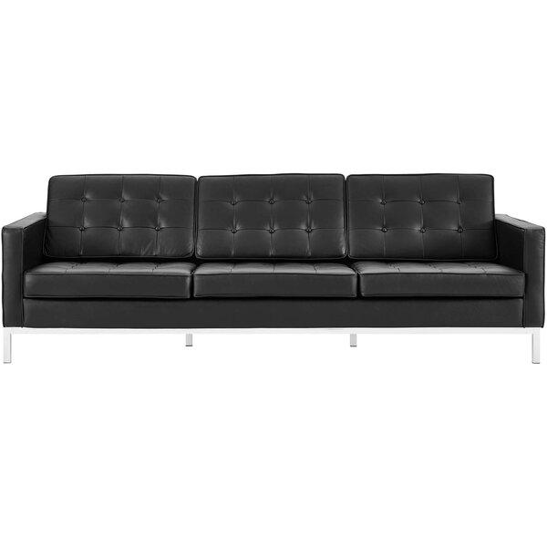Gayatri Leather Sofa by Orren Ellis