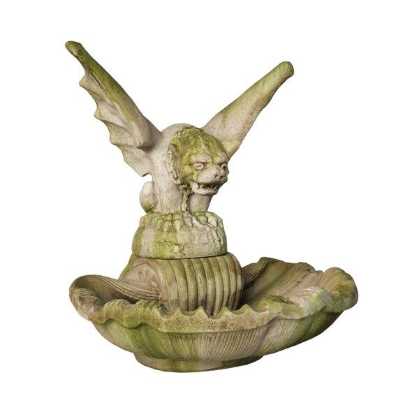 Fiber Stone Gargoyle Fatheaded Fountain by OrlandiStatuary