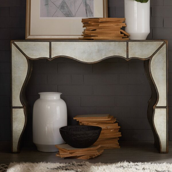 Arabella Mirrored Hall Solid Wood Console Table By Hooker Furniture