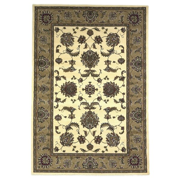 Bellville Ivory & Beige Area Rug by Charlton Home