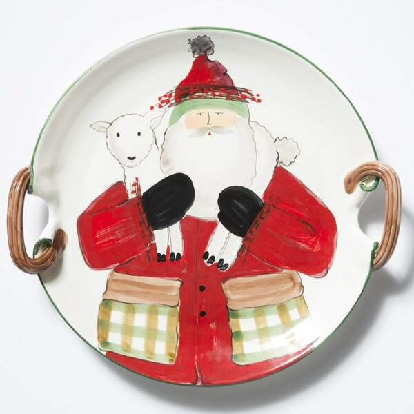 Old St. Nick 2017 Limited Edition Handled Round Platter by VIETRI