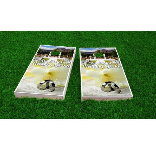 Wedding Rings Light Weight Cornhole Game Set by Custom Cornhole Boards