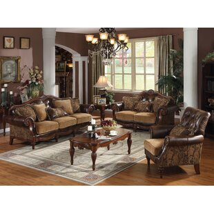 Banks 3 Piece Faux Leather Living Room Set by Cozzy Design