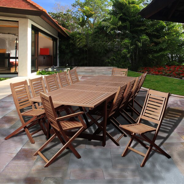Tuthill International Home Outdoor 13 Piece Dining Set by Highland Dunes