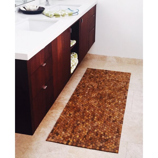 Egidio Teak Floor/Bath Runner by Bloomsbury Market