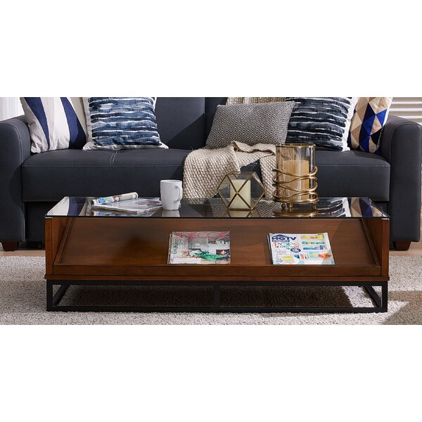 Zariah Sled Coffee Table With Storage By Millwood Pines