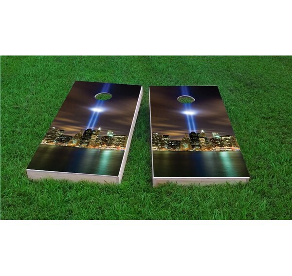 September 11th Light Memorial Cornhole Game Set by Custom Cornhole Boards