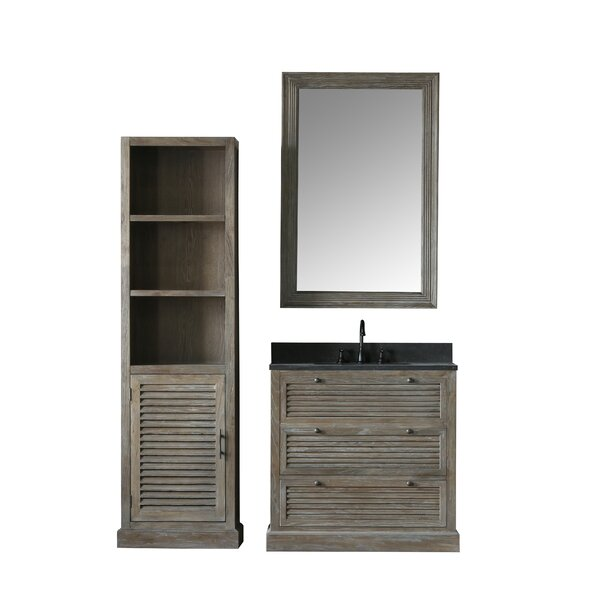 Angela 37 Single Bathroom Vanity Set with Mirror by Millwood Pines