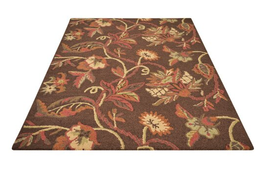 Tressa Brown Hand-Tufted Area Rug by Darby Home Co