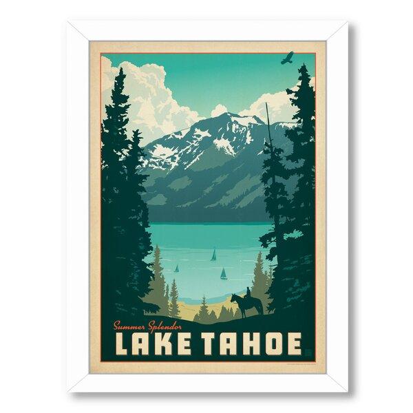 Lake Tahoe 1002 Framed Vintage Advertisement by East Urban Home